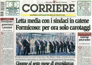 Corriere Irpinia - prima pagina